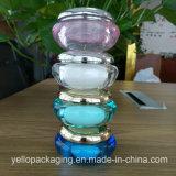 Frasco acrílico personalizado do plástico do frasco do frasco cosmético vazio