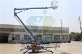 200kg 12m 14m 16m 1개의 사람들 Hyraulic Towable 트레일러 붐 상승