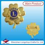 De zachte Speld van het Kenteken van het Metaal van het Email, Kenteken van de Medaille van de Legering van het Zink het Gouden (lzy-1000069)