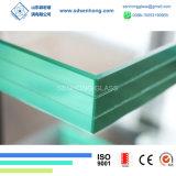 6.38m m 1/4 33.1 claro y vidrio laminado verde para el edificio