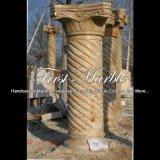 De antieke Kolom van de Travertijn voor Decoratie mcol-300 van het Huis
