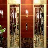 Colorear la hoja de acero inoxidable del espejo para el oro de la cabina del elevador del hotel