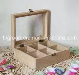 純木の茶ボックスコンパートメントボックスギフト用の箱包装ボックスマツ木ボックス