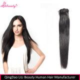 Grampo de cabelo humano não processado do Virgin de 100% em extensões do cabelo