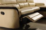L sofá del Recliner del cuero de la dimensión de una variable con el respaldo