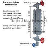 아크릴 렌즈 Liquidglass 반사 수준 표시기 산업 유리제 계기