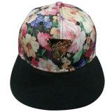 Fabric floral Caps con Flat Peak SD13