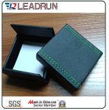 革ビロードの宝石類の収納箱の記念品の現在の腕輪のカフスボタンのパッキングギフト用の箱(CPB10)