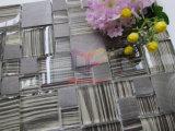 灰色カラー現代様式ガラスおよびアルミニウムは作った装飾のモザイク(CFC643)を