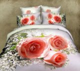 Elegant Flower Printing 3D Bedding Set