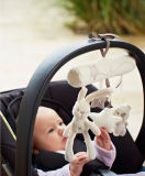 Brinquedo móvel de suspensão do luxuoso do coelho da música do assento da base do carrinho de criança de bebê