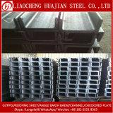 Canal U de acero laminado en caliente de Q235B para el uso del edificio de la estructura de acero