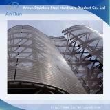 Acero inoxidable del acoplamiento de alambre decorativo de la fachada Propósito / Architectural