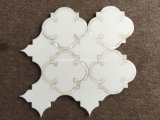 بيضاء رخاميّة تصميم حجارة [موسيك تيل]