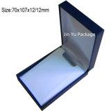 Caja de embalaje de las ventas de la joyería plástica negra retra caliente del regalo con insignia del oro