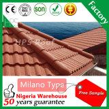 アフリカの熱い販売の屋根素材ファッションカラフルな石被覆された金属屋根瓦