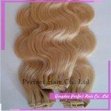 人間の毛髪の拡張の長の卸売価格巻き毛のブロンドクリップ