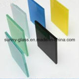 vidro laminado moderado segurança de 6.38mm do vidro ensolarado