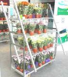 Multi Layers Metal Rolling Flower Shelf Cart Plant Trolley