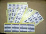 Contrassegno autoadesivo del PVC dell'autoadesivo adesivo di carta di Pirnted (Z19)