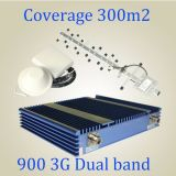 Amplificador dual del repetidor de la señal de la venda del alto aumento de interior del aumentador de presión de la señal del teléfono celular del G/M 900 WCDMA 3G 2100MHz