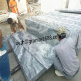 Mattonelle di pavimentazione di marmo grige nuvolose della cava diretta