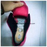 Het Bovenleer van kleren van de Schoenen van pvc met Injectie Outsole
