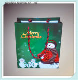 De douane Gerecycleerde Zakken van de Gift van het Pakpapier van Kerstmis/de Zakken van het Handvat van de Gift van de Ambacht