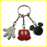 Palma Polished chapeada prata do metal e Mickey Keychain principal