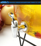 Tarro de cristal del dispensador de la bebida de la fruta del vino de la bebida con el golpecito