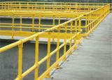 노화 방지 건축 FRP Pultruded 담 방벽에 의하여 이용되는 난간 손잡이지주