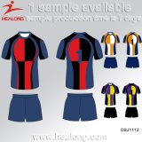 Healong kundenspezifische Polyester-Digital-Drucken-Rugby-Jersey-Uniform