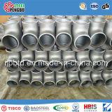 T de redução de aço inoxidável sanitário Ss304 com extremidade de solda