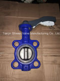 Dn125 Pn16 Roheisen-Oblate-Drosselventil mit Aluminiumhebel