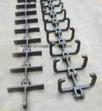 Scarper en acier Conveyor Chain avec Flight pour Conveyor