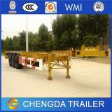 半中国の三車軸骨組トラックのトレーラーの容器のトレーラー