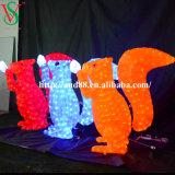 3D Motif acrílico ardilla luces
