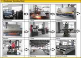 Máquina de corte Waterjet com ISO, CE do CNC do cortador de couro de madeira 1.5*1m, GV