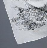 Cachecóis impressos de seda pura e impressos Lenço impresso em folha dourada
