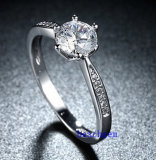 Heet verkoop de Ringen van het Messing van het Zirkoon van Juwelen (R0827)
