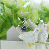 Collana Pendant di cristallo del cigno di sogno di modo dell'argento sterlina delle donne 925