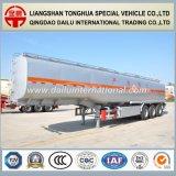 Remorque liquide chimique thermique de 3 d'essieu de camion camions-citernes d'acier inoxydable semi