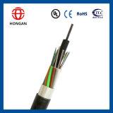 Cable óptico aéreo de fibra de 192 bases del alambre GYTA de la potencia