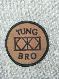 Zona tessuta piana del ricamo del banco di marchio su ordinazione di modo per vestiti