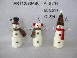 Marshmallow do boneco de neve do presente da decoração do Natal, 3assorted