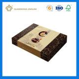 Rectángulo de papel a pedido del té de la impresión con la tapa