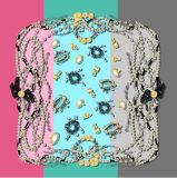 100%の絹のスカーフ、一義的なパターン、デジタルプリント