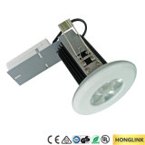 il fuoco messo Dimmable LED Rated di 9With12W IP65 giù si illumina