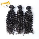 流行の人間の毛髪100%のインドの人間の毛髪機械よこ糸