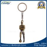 Corrente chave do metal de couro relativo à promoção dos presentes